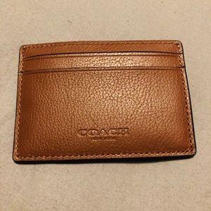 Coach money clip & card holder